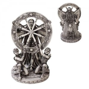 Arianrhod Wheel of the Year Bone Finish Resin Statue Majestic Dragonfly Home Decor, Artwork, Unique Decorations