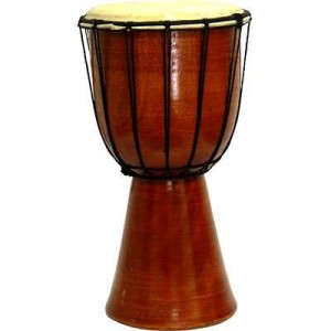 Djembe Drum Plain Red Mahogany Finish Drum Majestic Dragonfly Home Decor, Artwork, Unique Decorations