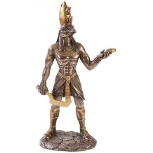 Horus Egyptian God Statue - 12 Inches Majestic Dragonfly Home Decor, Artwork, Unique Decorations