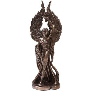 Morrigan Bronze Resin 12 1/4 Inch Statue Majestic Dragonfly Home Decor, Artwork, Unique Decorations