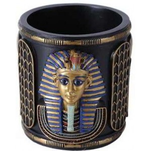 King Tut Utility Cup Holder Majestic Dragonfly Home Decor, Artwork, Unique Decorations