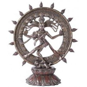 Shiva Nataraja Lord of Dancers Hindu Bronze Resin Statue Majestic Dragonfly Home Decor, Artwork, Unique Decorations