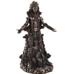 Danu Bronze Celtic Goddess Statue by Derek Frost Majestic Dragonfly Home Decor, Artwork, Unique Decorations