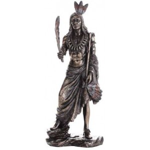 Indian Warrior Statue Majestic Dragonfly Home Decor, Artwork, Unique Decorations