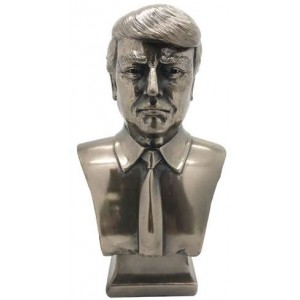 Donald Trump Presidential Bronze Bust Majestic Dragonfly Home Decor, Artwork, Unique Decorations