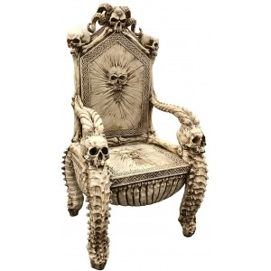 Skull Throne Gothic Chair Majestic Dragonfly Home Decor, Artwork, Unique Decorations