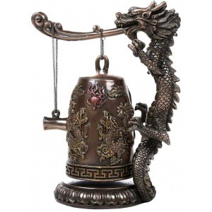 Oriental Dragon Auspicious Feng Shui Bell Majestic Dragonfly Home Decor, Artwork, Unique Decorations