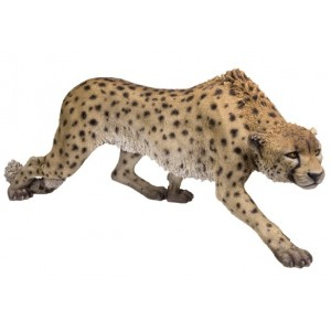 Cheetah Full Size Animal Statue Majestic Dragonfly Home Decor, Artwork, Unique Decorations