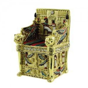 Kings Throne Egyptian Jeweled Mini Box - 2.5 Inches Majestic Dragonfly Home Decor, Artwork, Unique Decorations