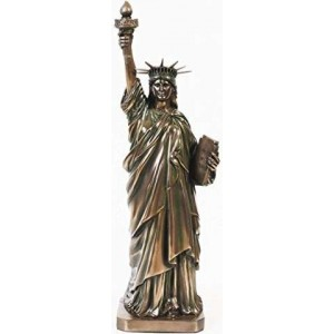 Statue of Liberty 12 Inch Replica Statue Majestic Dragonfly Home Decor, Artwork, Unique Decorations