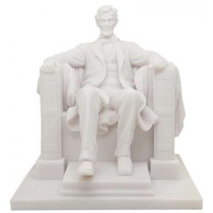 Abraham Lincoln Memorial Marble Statue Majestic Dragonfly Home Decor, Artwork, Unique Decorations