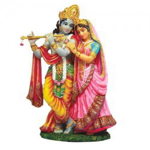 Krishna and Radha Hindu God Statue Majestic Dragonfly Home Decor, Artwork, Unique Decorations