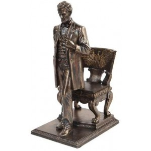 Abraham Lincoln Bronze Statue Majestic Dragonfly Home Decor, Artwork, Unique Decorations