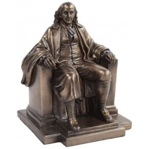 Benjamin Franklin Bronze Statue Majestic Dragonfly Home Decor, Artwork, Unique Decorations