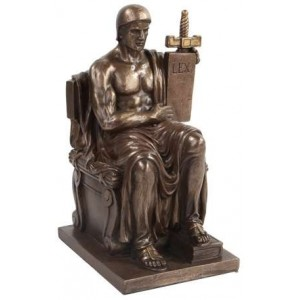 Authority of Law Bronze Resin Statue Majestic Dragonfly Home Decor, Artwork, Unique Decorations