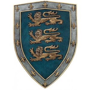 3 Lions Medievel Knights Shield Plaque Majestic Dragonfly Home Decor, Artwork, Unique Decorations
