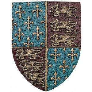 Fleur de Lis and Lions Medievel Knights Shield Plaque Majestic Dragonfly Home Decor, Artwork, Unique Decorations