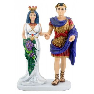 Cleopatra with Marc Anthony Statue Majestic Dragonfly Home Decor, Artwork, Unique Decorations
