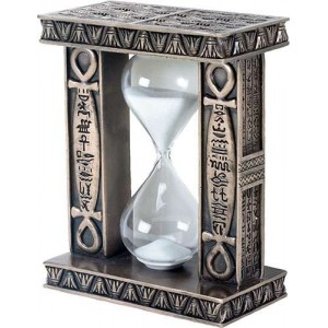 Egyptian Ankh Sand Timer Majestic Dragonfly Home Decor, Artwork, Unique Decorations