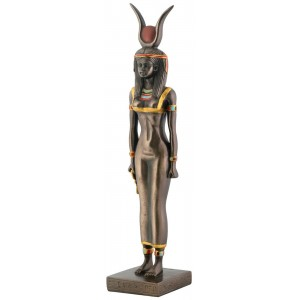 Isis Egyptian Goddess Bronze Finish Statue Majestic Dragonfly Home Decor, Artwork, Unique Decorations