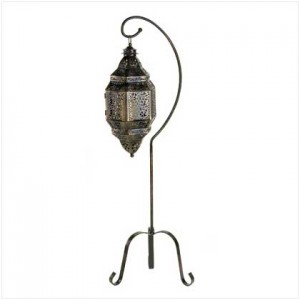 Moroccan Candle Lantern with Stand Majestic Dragonfly Home Decor, Artwork, Unique Decorations