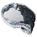 Nevermore Skull Raven Compact Makeup Mirror at Majestic Dragonfly, Home Decor, Artwork, Unique Decorations