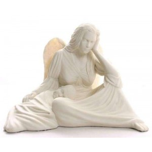 Seated Angel with Baby Statue Majestic Dragonfly Home Decor, Artwork, Unique Decorations