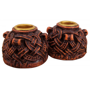 Celtic Knotwork Candleholder Pair Majestic Dragonfly Home Decor, Artwork, Unique Decorations