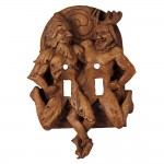 Green Man and Horned God Double Switchplate at Majestic Dragonfly, Home Decor, Artwork, Unique Decorations