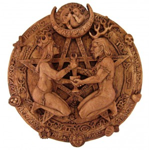 Great Rite Pentacle Wicca Plaque by Paul Borda Majestic Dragonfly Home Decor, Artwork, Unique Decorations