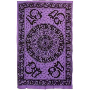 Om Symbol Purple Full Size Tapestry Majestic Dragonfly Home Decor, Artwork, Unique Decorations