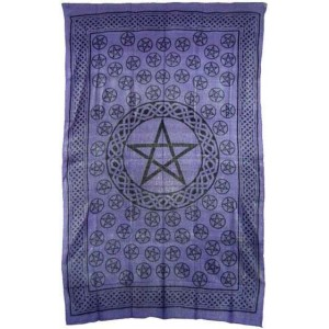 Pentagram Purple Cotton Full Size Tapestry Majestic Dragonfly Home Decor, Artwork, Unique Decorations