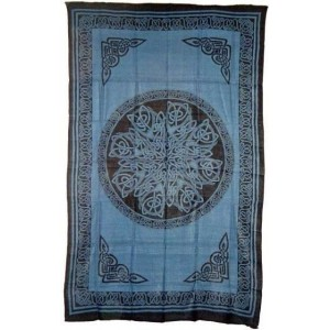 Celtic Knot Blue Cotton Full Size Tapestry Majestic Dragonfly Home Decor, Artwork, Unique Decorations