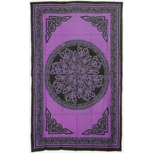 Celtic Knot Purple Cotton Full Size Tapestry Majestic Dragonfly Home Decor, Artwork, Unique Decorations