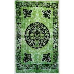Green Man Green Cotton Full Size Tapestry Majestic Dragonfly Home Decor, Artwork, Unique Decorations