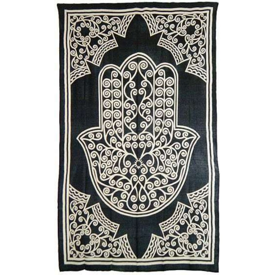 Hamsa Hand Of Protection Cotton Full Size Bedspread Pagan Meditation At Majestic Dragonfly Home Decor Artwork
