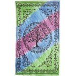 Tree of Life Tie Dye Cotton Full Size Bedspread at Majestic Dragonfly, Home Decor, Artwork, Unique Decorations