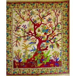 Tree of Life Double Tapestry Majestic Dragonfly Home Decor, Artwork, Unique Decorations