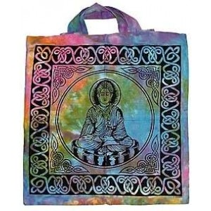 Buddha Tie Dye Cotton Tote Bag Majestic Dragonfly Home Decor, Artwork, Unique Decorations