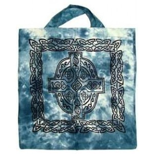Celtic Cross Cotton Tote Bag Majestic Dragonfly Home Decor, Artwork, Unique Decorations