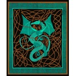 Celtic English Dragon Tapestry - Full Size Green at Majestic Dragonfly, Home Decor, Artwork, Unique Decorations