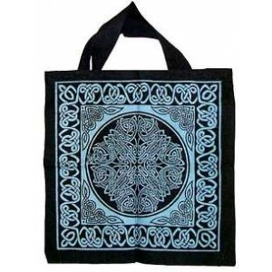 Celtic Knotwork Cotton Tote Bag Majestic Dragonfly Home Decor, Artwork, Unique Decorations