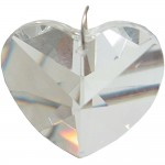 Crystal Prism Faceted Heart at Majestic Dragonfly, Home Decor, Artwork, Unique Decorations