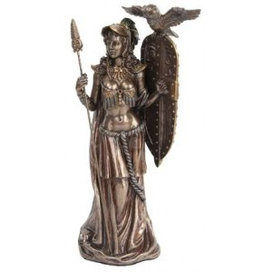 Athena Standing with Shield Greek Bronze Statue Majestic Dragonfly Home Decor, Artwork, Unique Decorations