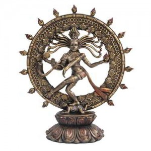 Shiva Nataraja Lord of Dancers Hindu Bronze 9 Inch Statue Majestic Dragonfly Home Decor, Artwork, Unique Decorations