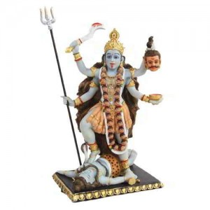 Kali Hindu Goddess of Destruction Statue Majestic Dragonfly Home Decor, Artwork, Unique Decorations