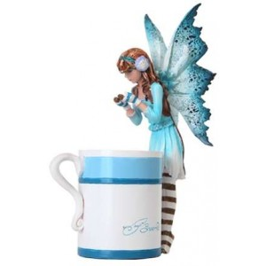 Hot Cocoa Fairy by Amy Brown Majestic Dragonfly Home Decor, Artwork, Unique Decorations