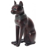Bastet Egyptian Cat Goddess Antique Bronze Finish Small Statue