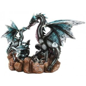 Dragon Family Statue Majestic Dragonfly Home Decor, Artwork, Unique Decorations