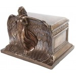 Rising Angel Bronze Memorial Urn at Majestic Dragonfly, Home Decor, Artwork, Unique Decorations